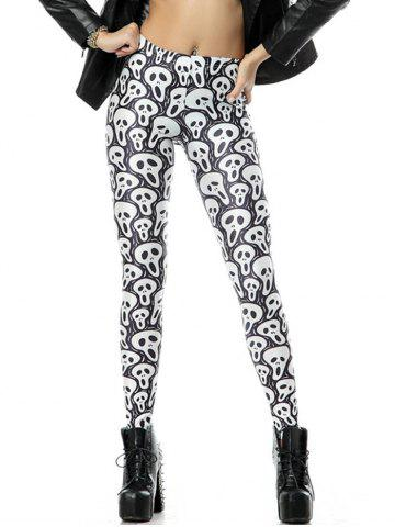 Store Classic Scary Halloween Leggings GRAY XL