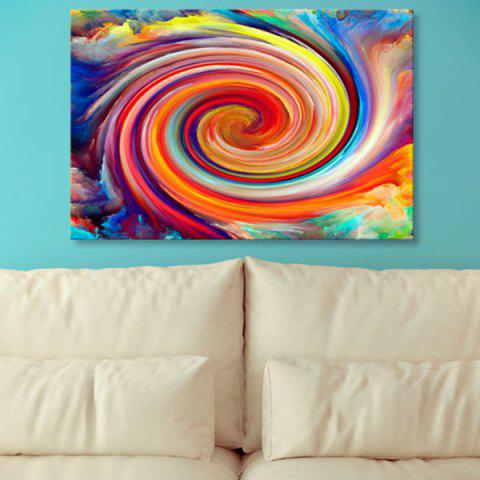 Affordable Wall Art Oil Painting Vortex Canvas Prints COLORFUL 1PC:24*39 INCH( NO FRAME )