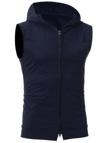 Latest Zip Up Kangaroo Pocket Hooded Vest