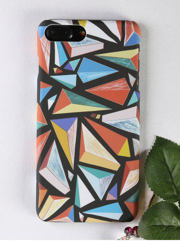 Colorful Geometric Pattern Protective Phone Case For Iphone - COLORMIX - FOR IPHONE 7 PLUS