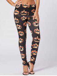 Halloween Pumpkin Fitted Leggings -