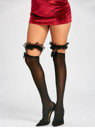 Overknee Lace Frill Trim Stockings -