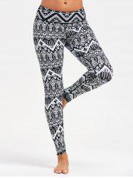Arrows Printed Yoga Leggings -