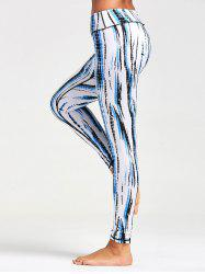 Ombre Printed Tight Leggings For Sports - WHITE XL