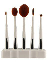 5PCS Toothbrush Shape Brushes with Holder -