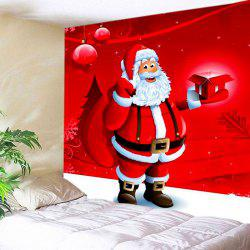 Christmas Santa Gift Print Tapestry Wall Hanging Art Decoration -