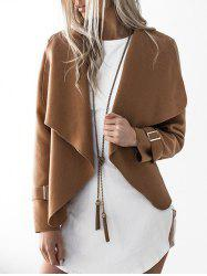 Suede Draped Jacket -
