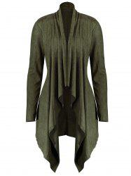 Long Plus Size Faux Suede Jacket -