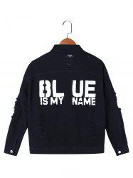 Blue Is My Name Frayed Jean Jacket -