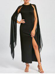 Chiffon Maxi Cape Dress -