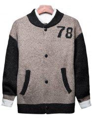 Button Up 78 Graphic Two Tone Cardigan -