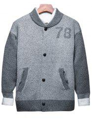 Button Up 78 Cardigan en graphite à deux tons -
