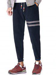 Tribal Stripe Drawstring Corduroy Pants -