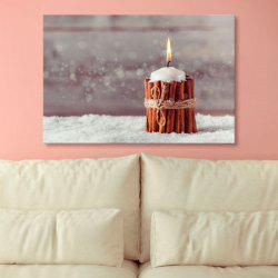 Christmas Candle Print Canvas Wall Art Paintings -