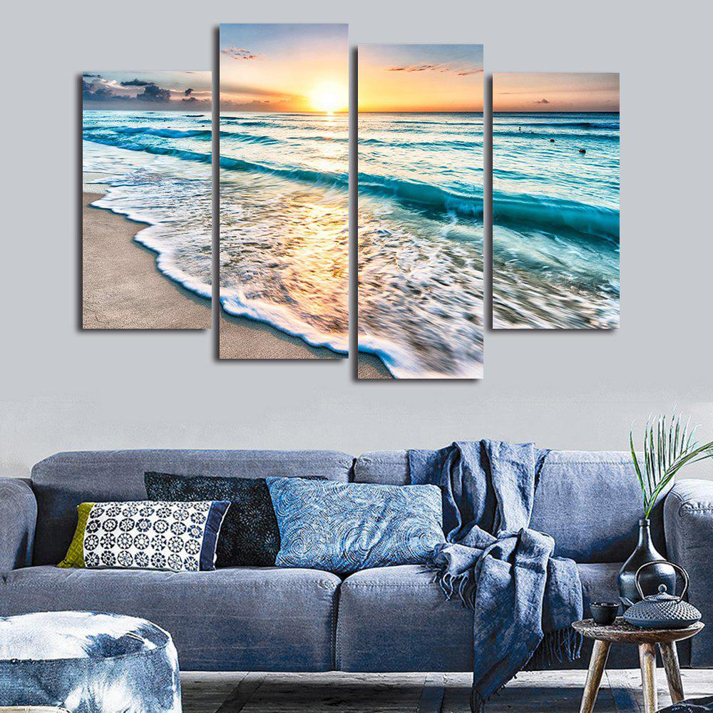 29 Off 2019 Sunset Beach Print Split Canvas Wall Art Paintings