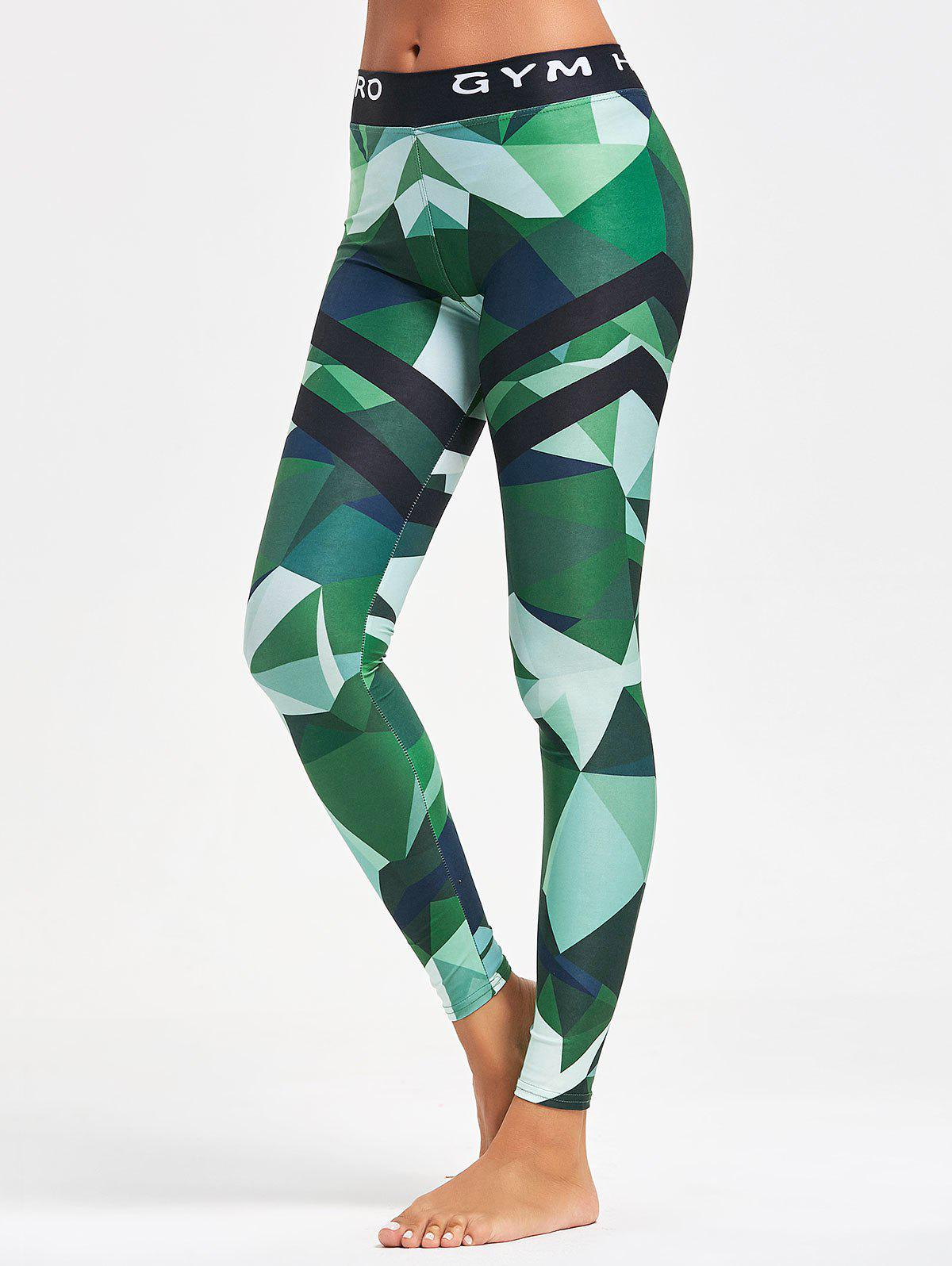 Outfits Triangle Pattern Printed Yoga Leggings