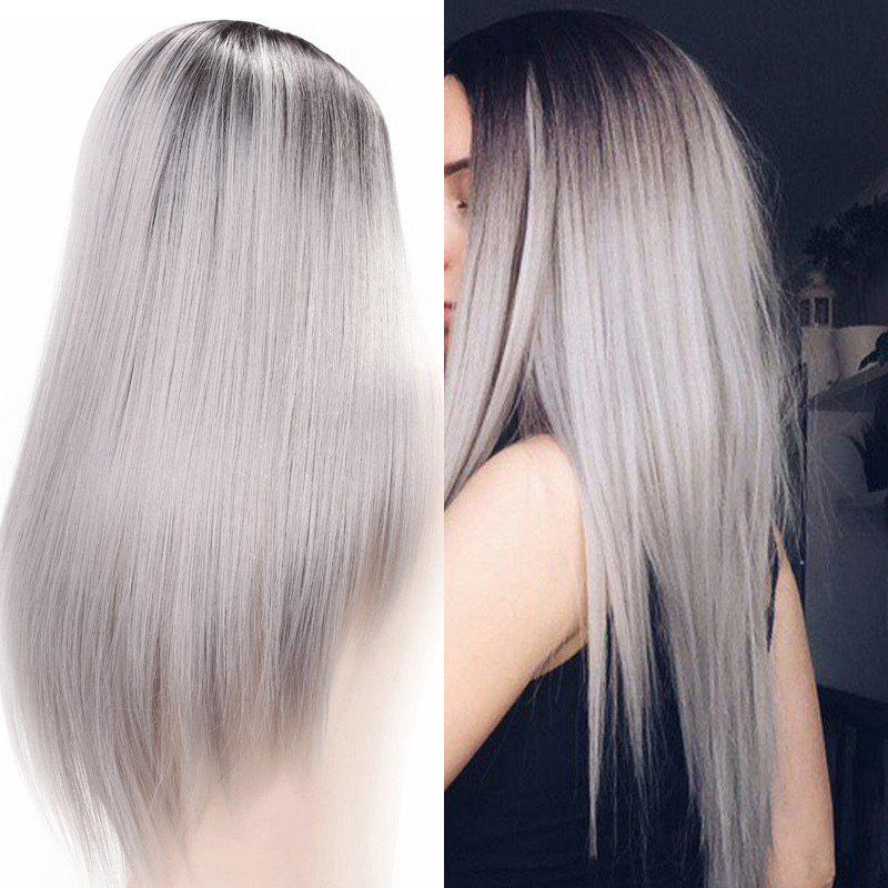 Long Center Parting Straight Ombre Synthetic WigHAIR<br><br>Color: COLORMIX; Type: Full Wigs; Cap Construction: Capless (Machine-Made); Style: Straight; Material: Synthetic Hair; Bang Type: Middle; Length: Long; Length Size(CM): 60; Weight: 0.2900kg; Package Contents: 1 x Wig;