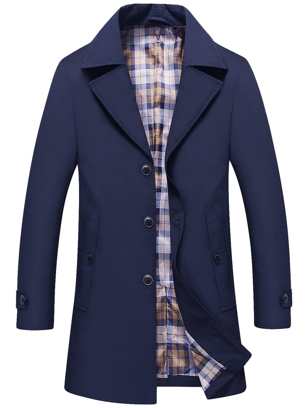 Sale Single Breasted Lapel Trench Coat