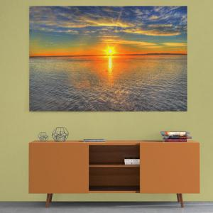 Sea Sunset Print Canvas Wall Art Painting - COLORMIX 1PC:24*39 INCH( NO FRAME )