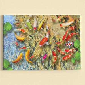 Wall Art Pond Goldfish Print Canvas Painting - YELLOW 1PC:24*39 INCH( NO FRAME )