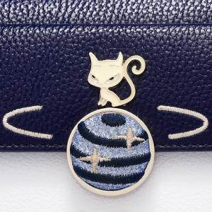 Embroidery Fox Color Block Wallet -