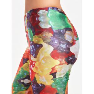 Leggings Multicolor Active Candy Pattern - Jaune M