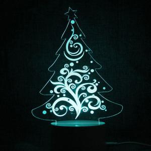 Christmas Tree Shape Telecontrol Color Changing Night Light -