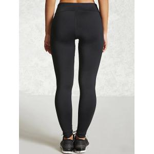 Yoga Leggings with Mesh - BLACK XL