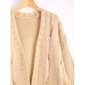 Poctets Cable Kint Cardigan à long pull -