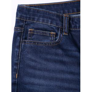 Ripped Pockets Jeans with Cat's Whisker -