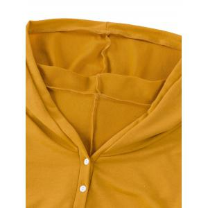 Casual Side Ruched Hooded Dress - YELLOW 2XL