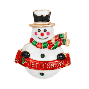 Forme de bonhomme de neige Let It Snow Brooch -