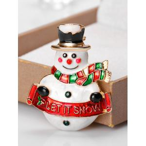 Snowman Shape Let It Snow Brooch -