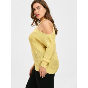 Knit Plus Size One Shoulder Sweater - LIMEADE ONE SIZE