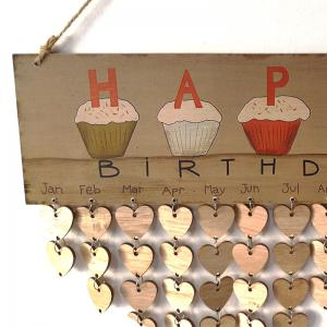 DIY Wooden Family And Friends Happy Birthday Calendar Board -