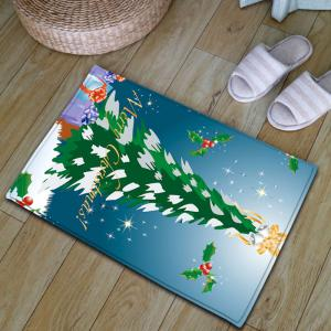Flannel Thickening Christmas Tree Antiskid Rug -