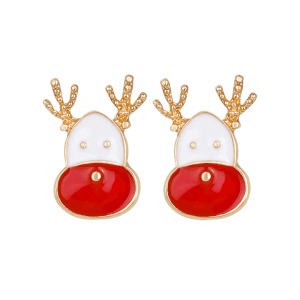 Christmas Reindeer Head Shape Cute Earrings -
