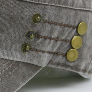 Stud Buttons Embellished Military Hat -