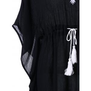 Tassel Drawstring Tribal Robe brodée -