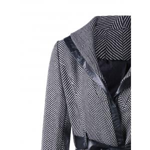 Shawl Collar Coat with Tie Belt -