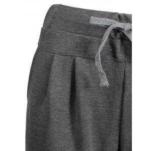 Plus Size Casual Drawstring Pants - DEEP GRAY 5XL