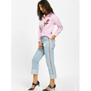 Faded Frayed Cuffed Jeans -