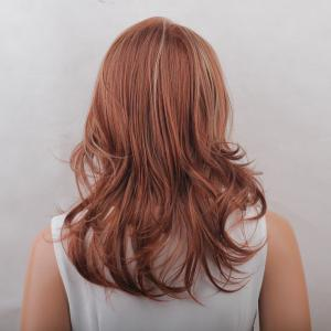 Long Side Bang Colormix Layered Tail Upwards Natural Straight Synthetic Wig - COLORMIX