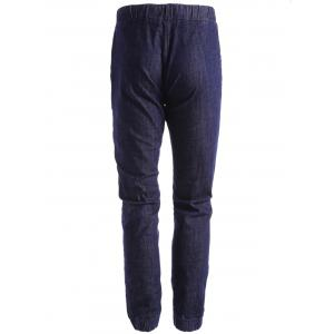 Stretch Drawstring Jogger Jeans - DEEP BLUE 38