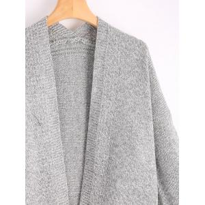 Long Pockets Sweater Cardigan - GRAY ONE SIZE