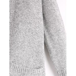 Long Poctets Sweater Cardigan - GRAY ONE SIZE