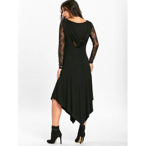 Halloween Spider Web Handkerchief Flowy Dress - BLACK 2XL