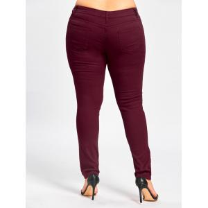 Plus Size Ladder Ribbed Jeans -