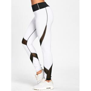 Striped Skinny High Waisted Leggings - WHITE AND BLACK 2XL