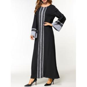 Laced Maxi Arabic Dress -